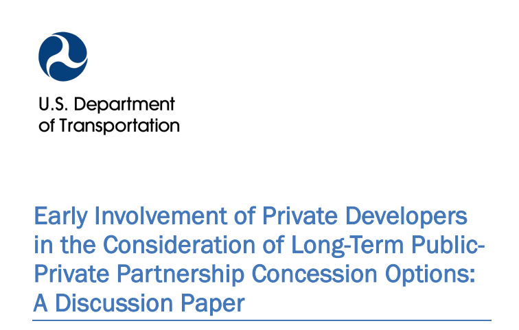 usdot early involvement private sector p3